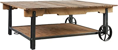 Established 98 Reclaimed Wood Cart Coffee Table
