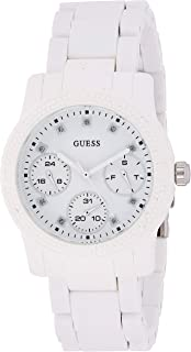 Guess Womens Quartz Watch, Analog Display and Silicone Strap W0944L1