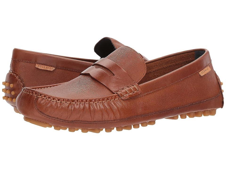 Cole Haan Coburn Penny Driver II (British Tan Textured Leather) Men