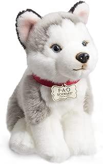 FAO Schwarz Puppy Floppy Husky Stuffed Animal Toy Plush 10