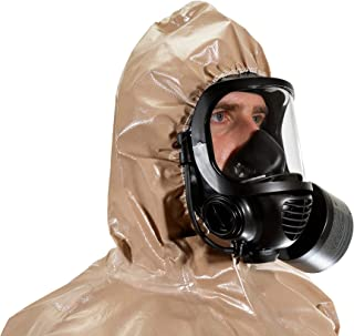 MIRA SAFETY Hazmat Suit Disposable Protective Coverall with Respirator-Fit Hood and Elastic Cuff Size LARGE XLARGE Respiratory Protection (HAZ-SUIT LG/XLG)