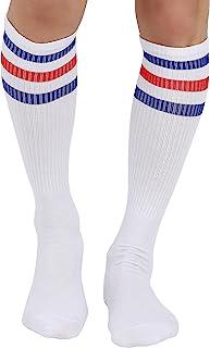 Best Triple Stripes White Knee High Tube Socks 1-3 Pairs Review