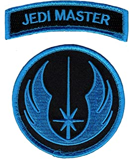 Star Wars Jedi Order Master Tab Morale Hook Fastener Patch (Bundle of 2pc-Blue)