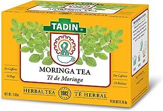 Tadin Herb & Tea Co. Moringa Herbal Tea, Caffeine Free, 24 Tea Bags, Pack of 6