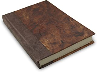 Nepali Eco Writing Journal with Vintage Handmade Lokta Paper, Clean-cut, Made in the Himalayas of Nepal, 6x9 Inches (Rustic Curry, Standard)