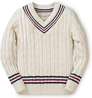 Boys' Long Sleeve V-Neck Cricket Sweater