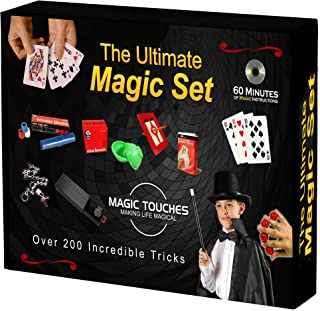 Magic Touches - Magic Tricks Set for Kids with Over 200 Tricks. Magic Kit Includes DVD Tutorial Explaining The Classics in The Kit