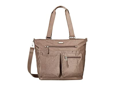 Baggallini New Classic Any Day Tote with RFID Phone Wristlet (Portobello Shimmer) Tote Handbags