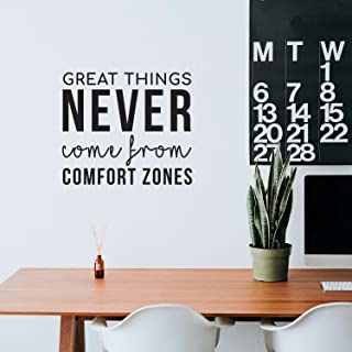 Vinyl Wall Art Decal - Great Things Never Come from Comfort Zones - 22.5