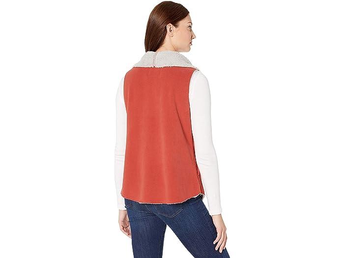 Dylan By True Grit Soft Blended Micro Fleece Mock Vest - Women Clothing