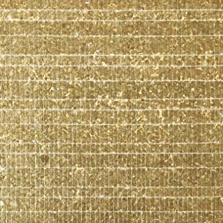 Luxury Shell Wall Covering WallFace CSA07-4 CAPIZ Non-Woven Wallpaper Hand-Crafted with Real Capiz Shells Mother-of-Pearl Look Gold Brown 9.80 m2 roll
