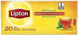 Lipton Black Tea Bags America's Favorite Tea 20 ct, pack of 12