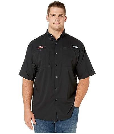 Columbia College Big Tall Georgia Bulldogs Collegiate Tamiami II Short Sleeve Shirt (Black) Men