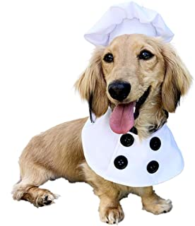 Pet Krewe Chef Uniform Dog Costume Fits Dogs Size Small, Medium, Large or Extra Large - Perfect for Halloween, Parties, Ph...