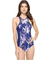 Roxy - Keep It ROXY® Back Zip One-Piece Swimsuit