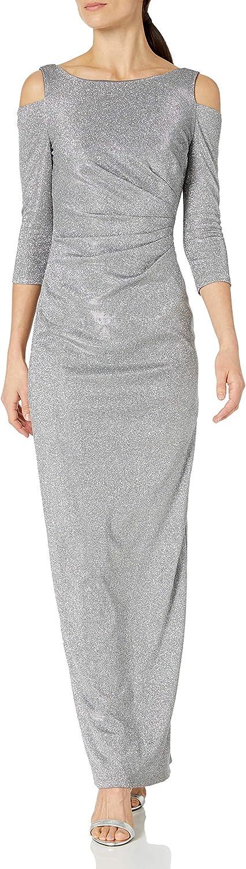 Marina Women's Long Slim Glitter Gown