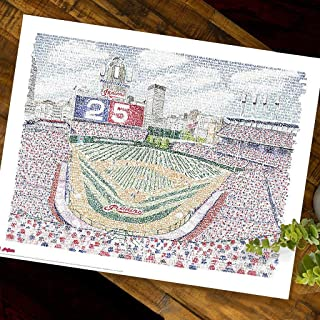 Cleveland Indians Progressive Field Word Art - Handwritten with The Names of Every Player in Team History - Indians Poster– Cleveland Indians Gifts & Decor