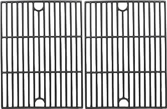 Hisencn Repair Parts Matte Porcelain Cast Iron Cooking Grids Replacement for Nexgrill 720-0888, 720-0670A, 720-0830H, Uniflame GBC981, Kenmore 41516106210 415.16106210 Gas Grill Grates, 17 inch