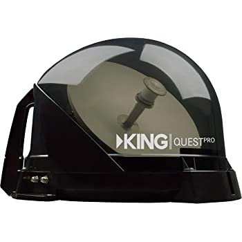 KING VQ4800 Quest Pro Portable/Roof Mountable Satellite TV Antenna (for use with DIRECTV)