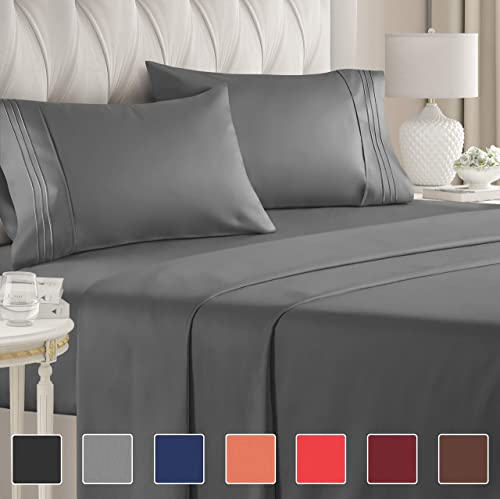 Queen Size Sheet Set - 4 Piece - Hotel Luxury Bed Sheets - Extra Soft - Deep Pockets - Easy Fit - Breathable & Coolin...