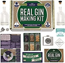 Real Homemade Gin Kit & Stainless Steel Personalized Flask, For Making Delicious Martinis, Gin and Tonics, Spirits & Cockt...