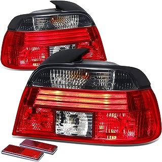 DNA Motoring TL-E3996-RD-SM TLE3996RDSM Tail Light Assembly (Driver & Passenger Side) for BMW E39 5-Series 4dr