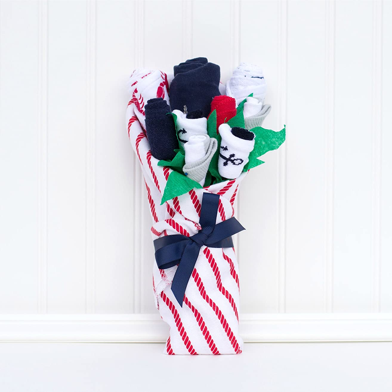 Nautical Baby Shower Gift Set Boy Clothes Flower Bouquet