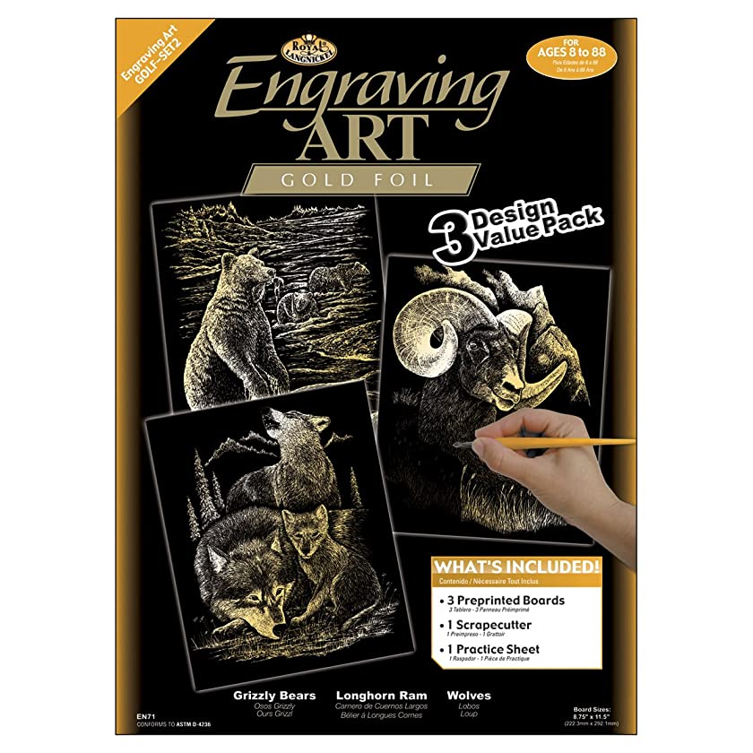 Royal and Langnickel Engraving Art 3 Design Value Pack, Gold