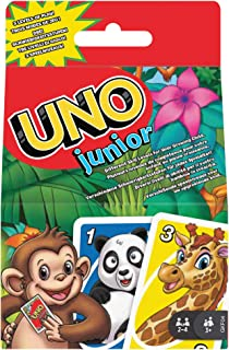 Mattel Games UNO Junior Card Game with 45 Cards, Gift for Kids 3 Years Old & Up