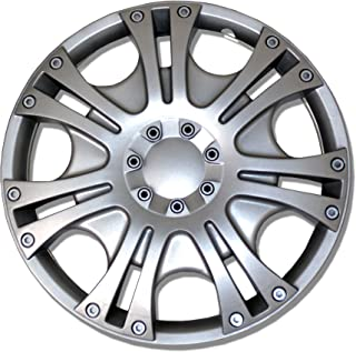 TuningPros WC-14-2009-S 14-Inches-Silver Improved Hubcaps Wheel Skin Cover Set of 4
