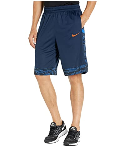 Nike Dry Courtlines Shorts Print (Obsidian/Team Orange) Men