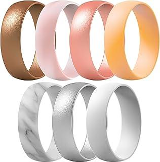 خاتم زفاف من السيليكون من ثاندرفيت للرجال والنساء، عرض 6.3 ملم - سمك 1.65 ملم