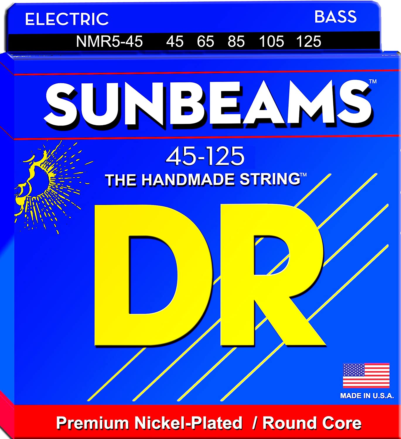 DR Dallas Mall Strings Sunbeam - Nickel Plated Core Round 5 Bass String New Orleans Mall 45-1