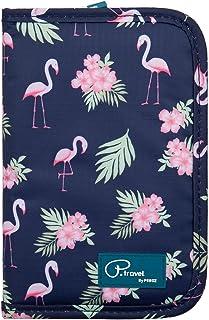 1Pcs Waterproof Passport Holder Document Organizer Flamingo Print Travel Wallet