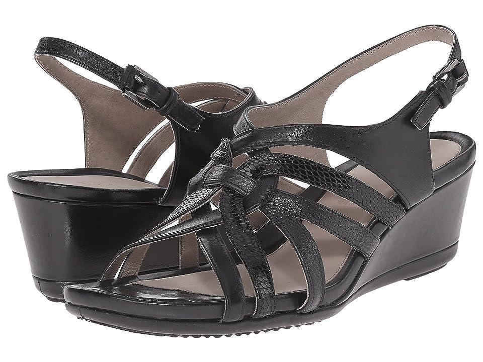 ECCO Touch 45 Wedge Sandal (Black/Black) Women