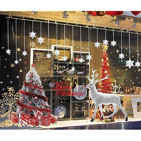 Joyeux Noël Autocollant Mural Amovible Vinyle Fenêtre Décoration Murale De Noël Blanc