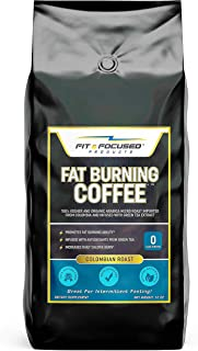 Fat Burning Keto Coffee- Organic Colombian Ground Roast Infused With Green Tea Extract, 100% Kosher Micro Roast with Powerful Antioxidants- (12 Ounce Bag)