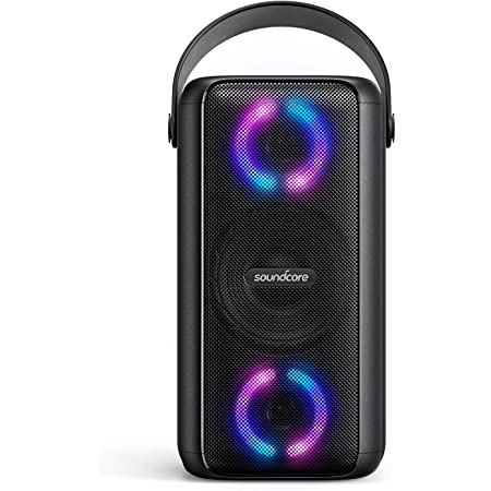Soundcore Trance Bluetooth Speaker, Outdoor Bluetooth Speaker with 18 Hour Playtime, BassUp Technology, Huge 101dB Sound, LED Lights, Soundcore App, IPX7 Waterproof, Wireless Speaker for Party