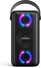 Soundcore Trance Bluetooth Speaker, Party Speaker with 18 Hour Playtime, BassUp Technology, Huge 101dB Sound, LED Lights, Soundcore App, IPX7 Waterproof, Wireless Speaker for Indoors and Outdoors