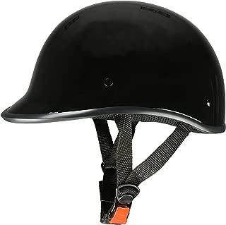 Milwaukee Performance Helmets Unisex-Adult Half Derby Helmet (Shiny Black, Medium)