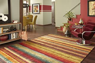 Mohawk Home New Wave Boho Stripe Printed Area Rug,  5'x8',  Multicolor