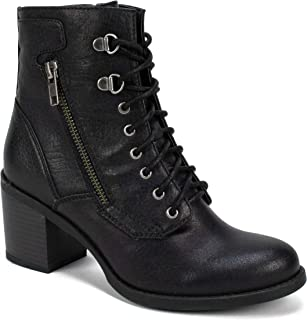 black chunky lace boots