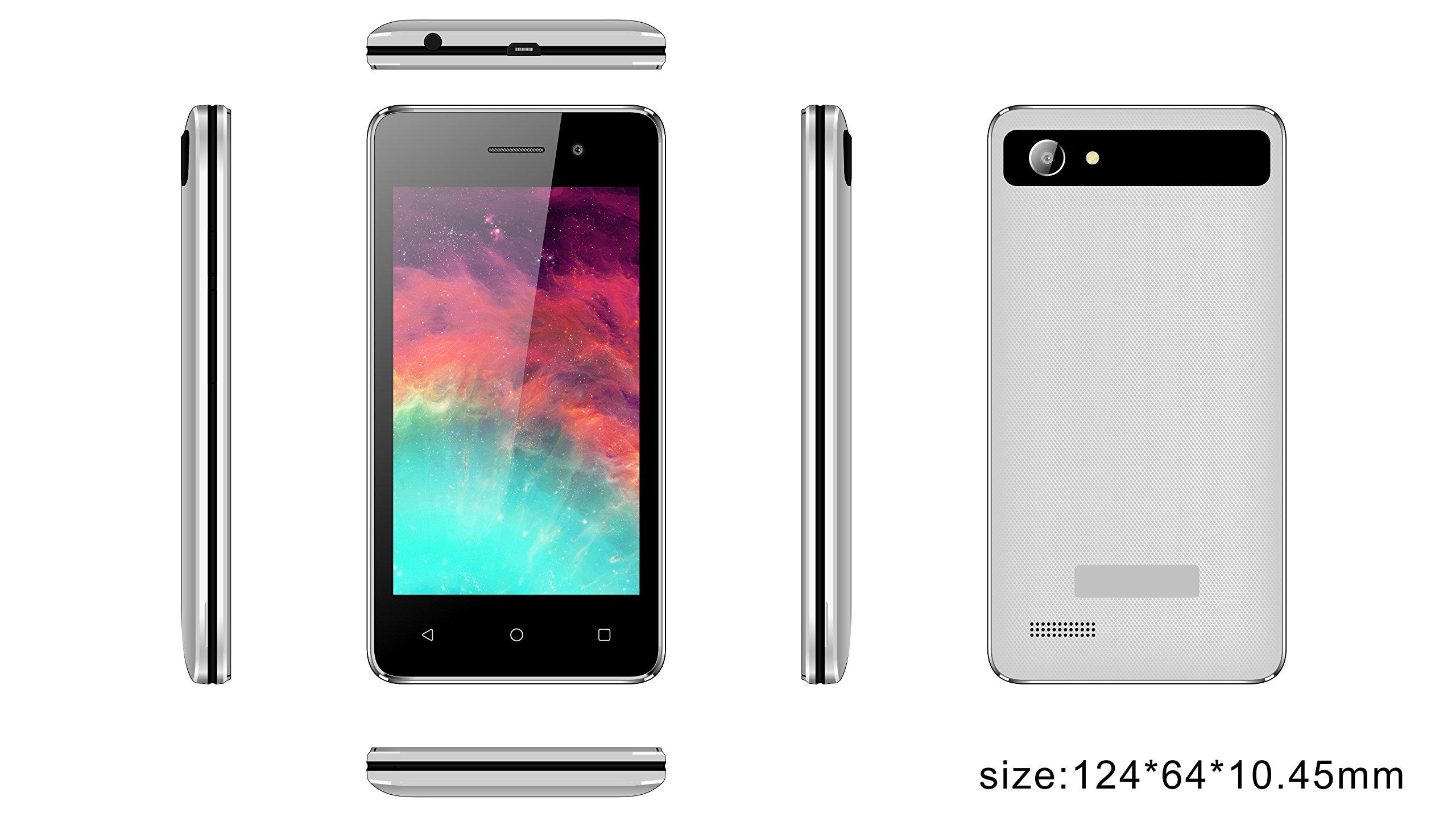 Smartphone INFINITON T4 (Blanco), Quad-Core 1.0GHz, Pantalla 4.0 ...