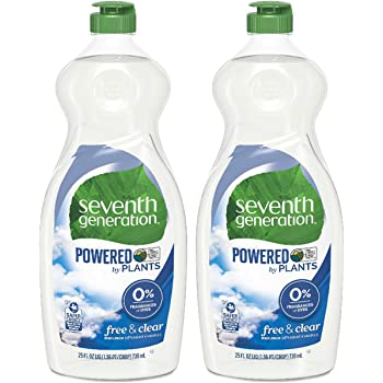 Seventh Generation Dish Liquid - 25 oz - Free & Clear - 2 pk