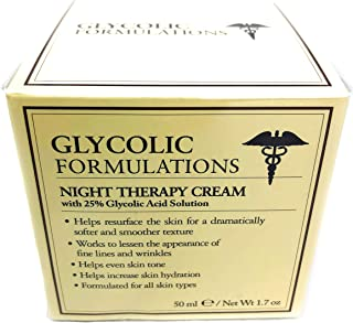 Glycolic Formulations Night Therapy Cream with 25 Percent Glycolic Acid  50ml  1.7oz