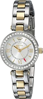 Juicy Couture Womens Quartz Watch, Analog Display and Stainless Steel Strap 1901229