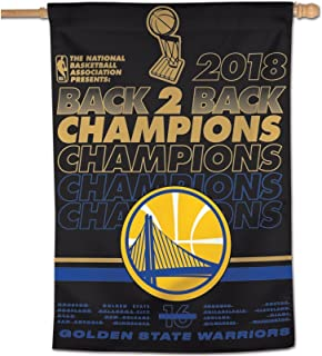 WinCraft NBA Golden State Warriors 2018 Basketball Champions Vertical Flag, 28 x 40-inches