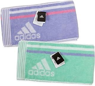 adidas(アディダス) スリムスポーツタオル 15×120cm 2枚組 高吸水性 肌触り優しいフルフィーコットン使用 Agフレッシュ(抗菌防臭)加工 SEK青マーク取得 スポーツ・アウトドアに最適 (アドレ柄)