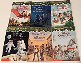 6 Magic Tree House Books! 1) Dinosaurs Before Dark 2) The Knight at Dawn 3) Pirates Past Noon 4) Midnight on the Moon 5) G...