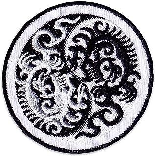 Yin & Yang Drachen Aufnäher Aufbügler Patch Tattoo